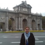 Rocio Buzo from Illinois College, USA, at Puerta de Alcala