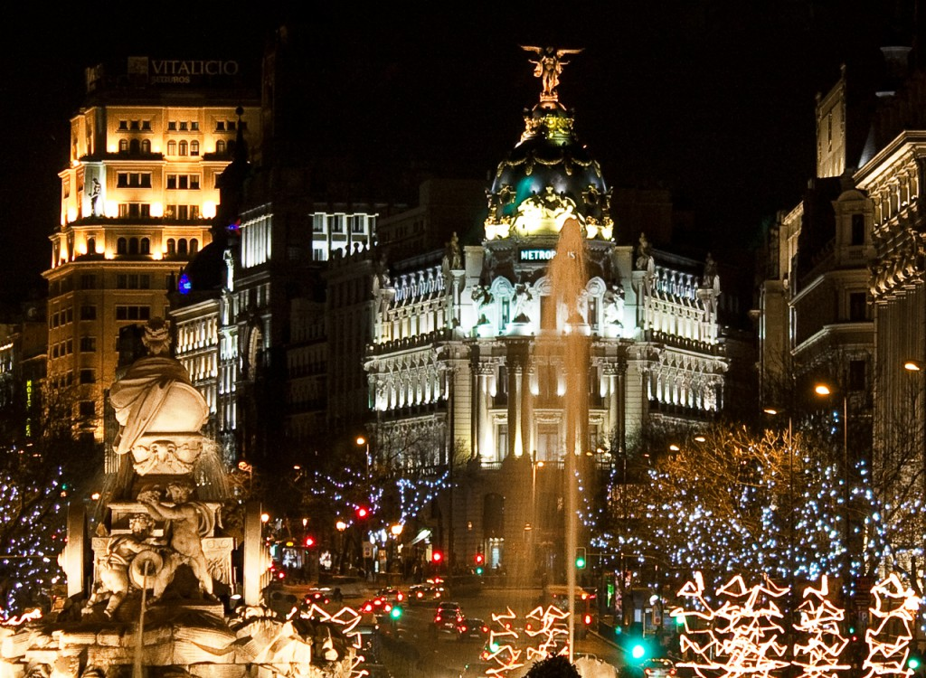 christmas Madrid night
