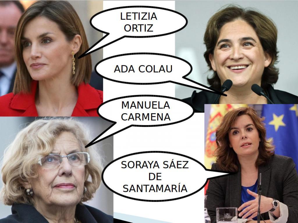 mujeres politica española, clase de español