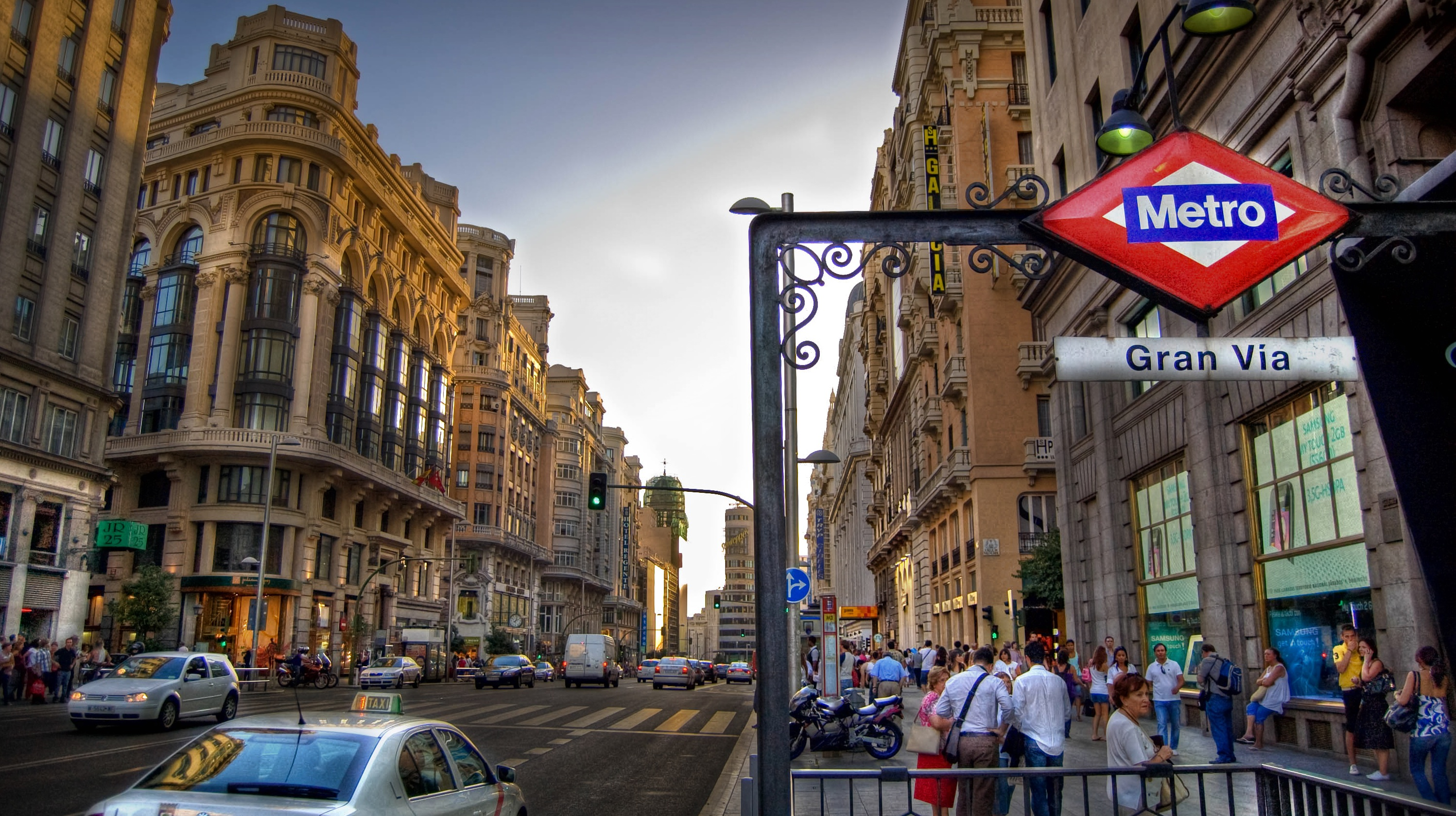 0183b257 Gran Via in Madrid, the