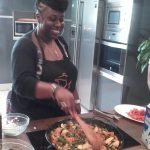 clase de Cocina, estudiantes Lycee Nelson Mandela, paella