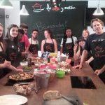 clase de Cocina, estudiantes Lycee Nelson Mandela, grupo