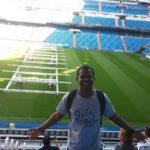 Lucas Pereira no Estádio Santiago Bernabéu