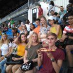 Alunos comendono Estádio Santiago Bernabéu