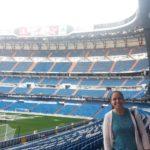 Mariana Carreiro no Estádio Santaigo Bernabéu