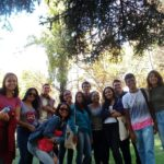 Mayra Cabral e alunos Em la escola TANDEM Madrid
