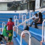 Alunos no estádio Santiago Bernabéu