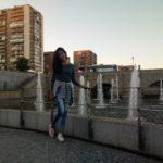Ellien Barbosa, em uma caminhada