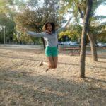 Ellien Barbosa, saltando