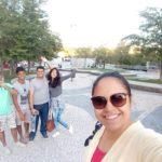 Ellien Barbosa, selfie no parque