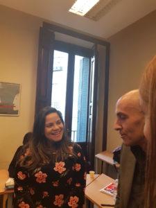 Fabiana Moura con los profesores de TANDEM Madrid