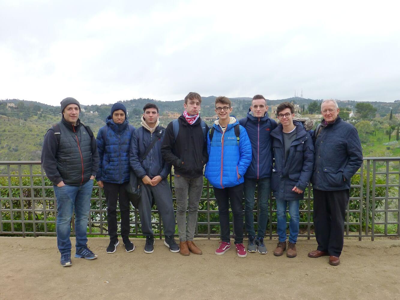 Visit of students of Manchester Grammar School, Toledo