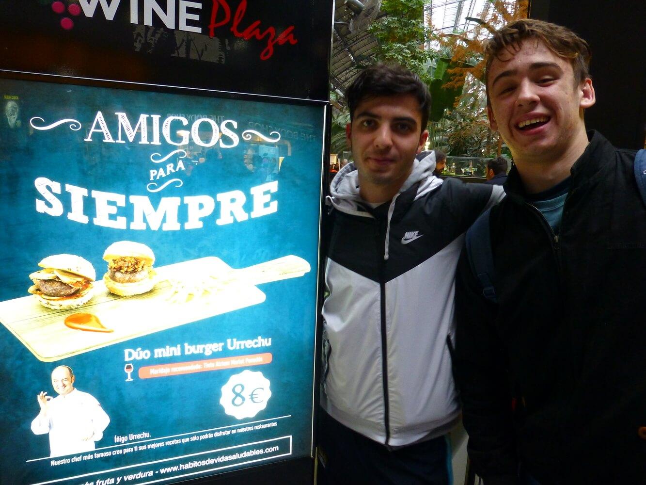 Visit of students of Manchester Grammar School, Atocha Station