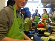 Visit of students of Manchester Grammar School, Cooking classes