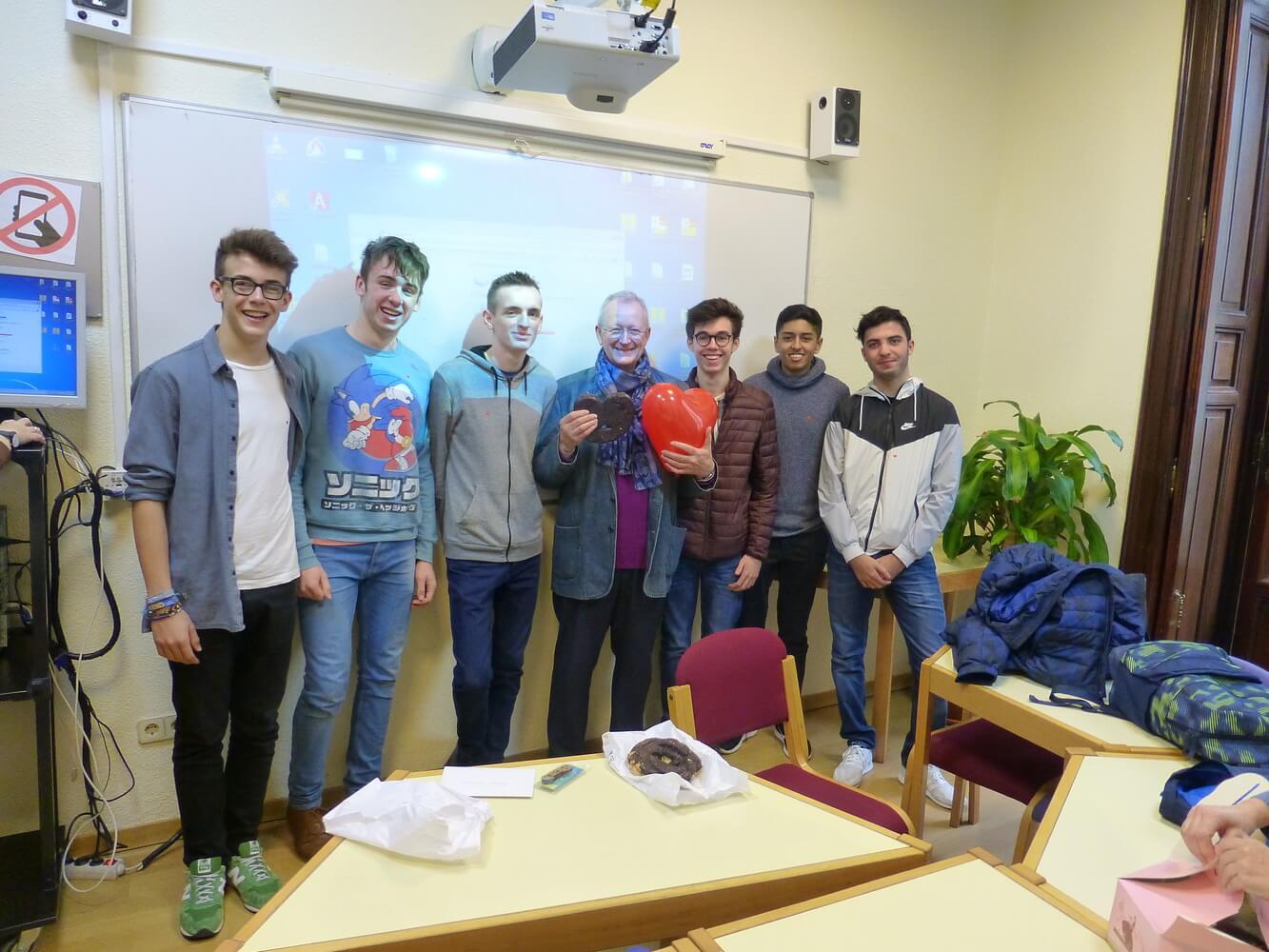 Visit of students of Manchester Grammar School, 2018, Valentine's Day