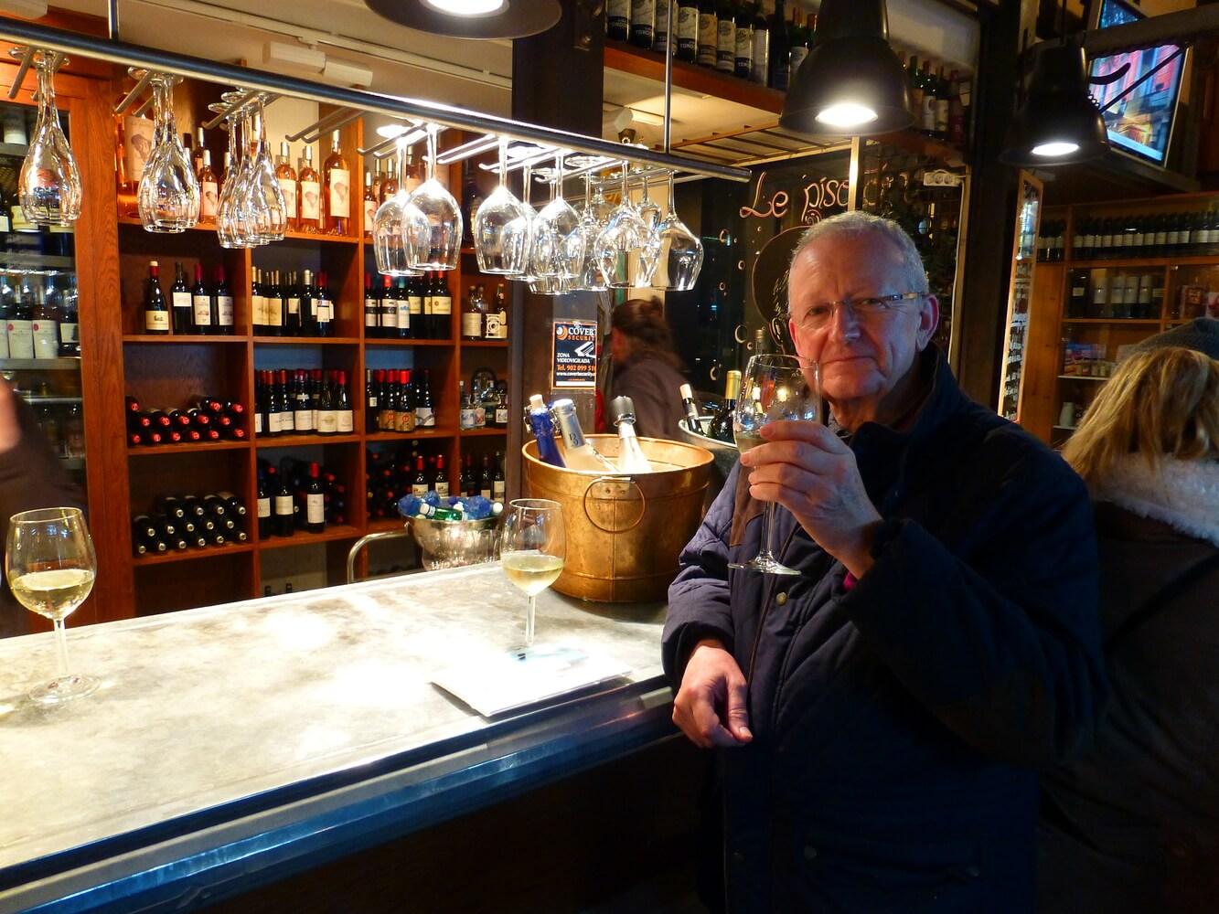 Visit of students of Manchester Grammar School, Wine tasting