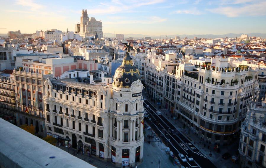 Edificio Metrópoli y Gran Vía de Madrid