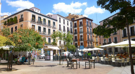 Malasaña neighborhood in Madrid
