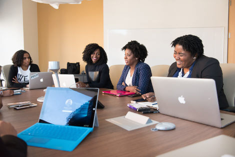 Women having a meeting