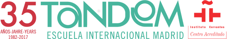 Cursos de español en Madrid. TANDEM Madrid escuela de español