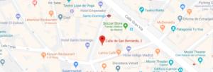 Mapa de localización del Hostel Generator Madrid