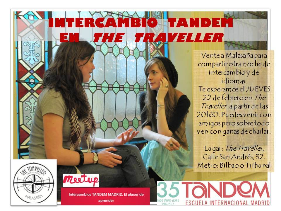 Intercambio de idiomas The Traveller Madrid