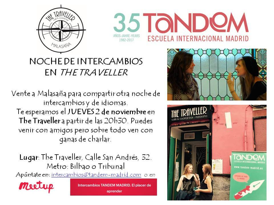 Intercambio de idiomas The Traveller Madrid