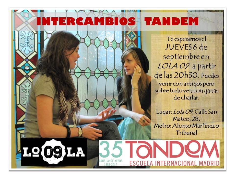 TANDEM Language Exchange at Lola 09, September 9, 2018