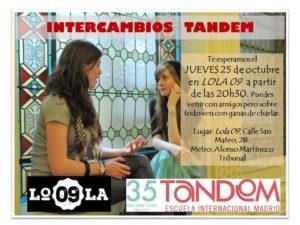Intercambio de idiomas en Lola09
