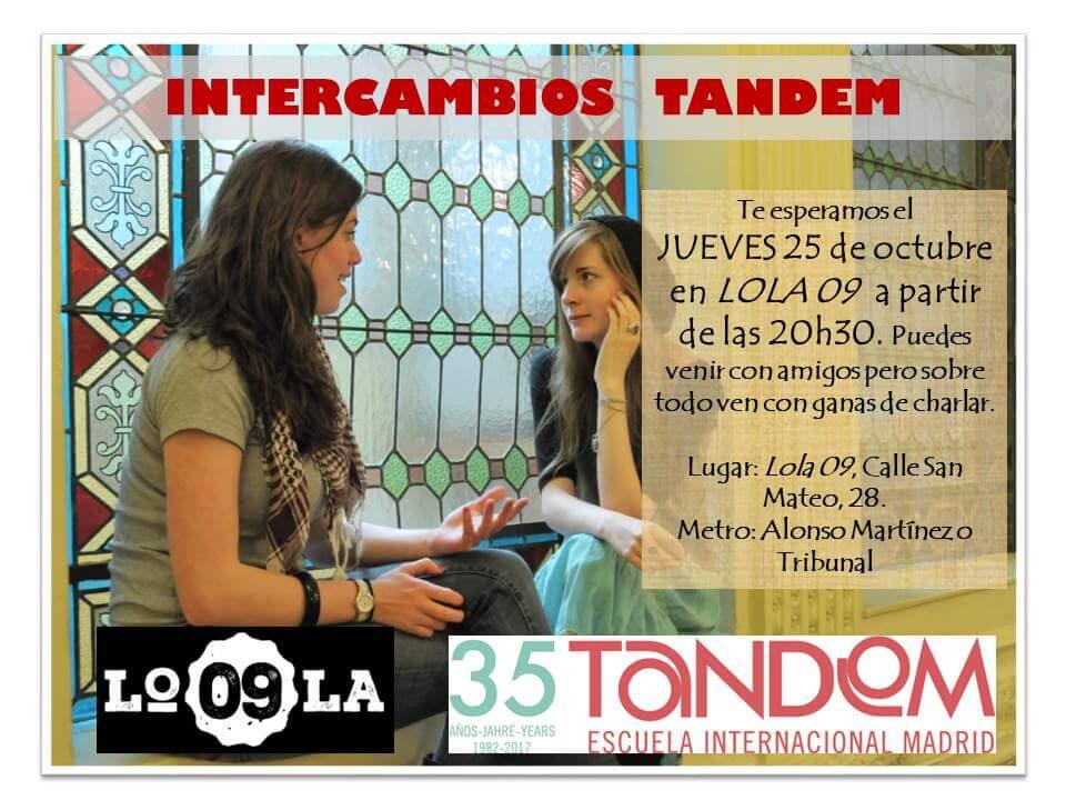 Intercambio de idiomas TANDEM en Lola 09,25 de Octubre 2018