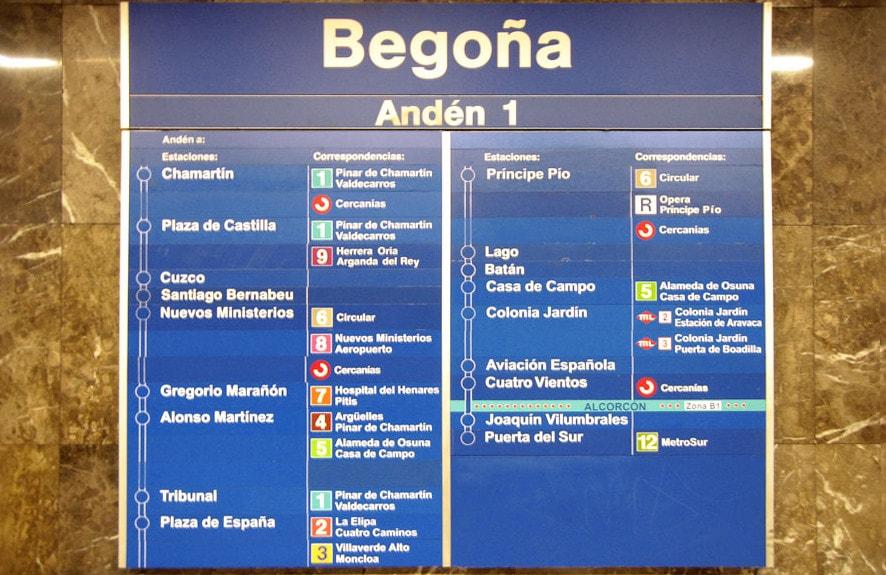 metro Begoña Madrid