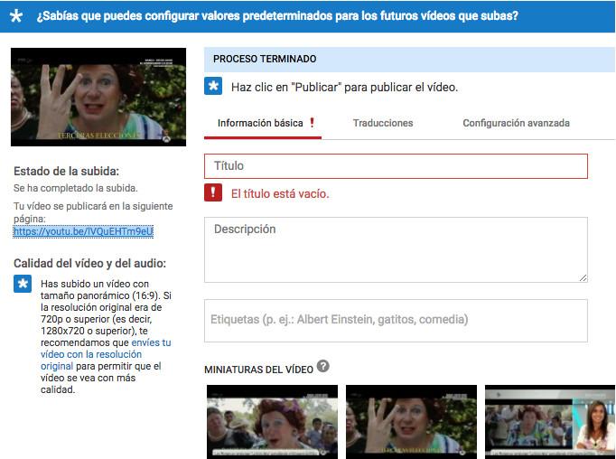 Actividad pudiera ser: video Youtube Morancos