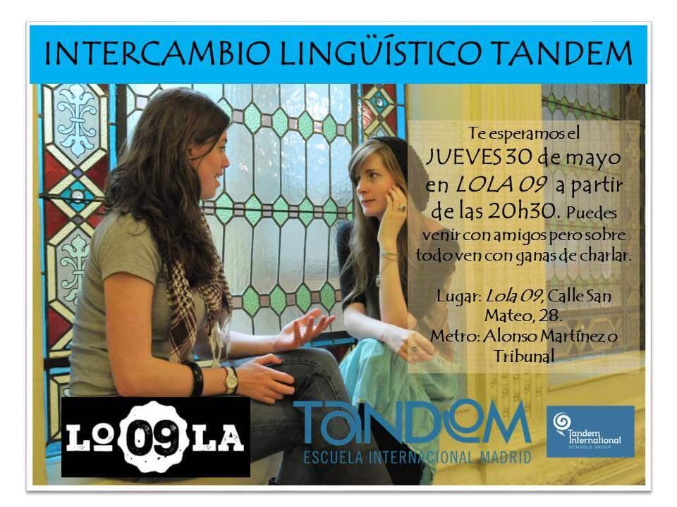 Intercambio de idiomas TANDEM en Lola 09