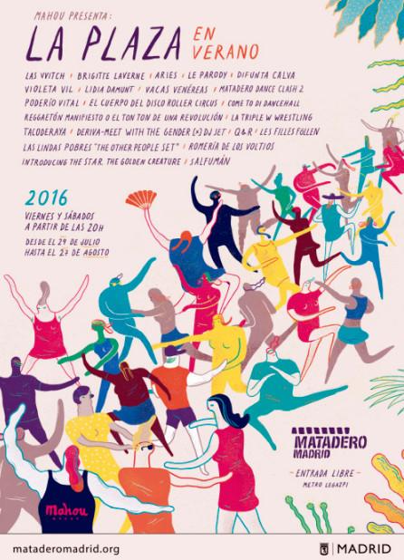 La Plaza en Verano, poster