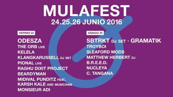 artistas y grupos Mulafest 2016