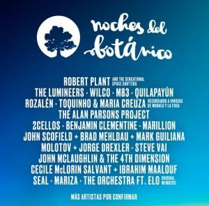 Noches del Botanico artists