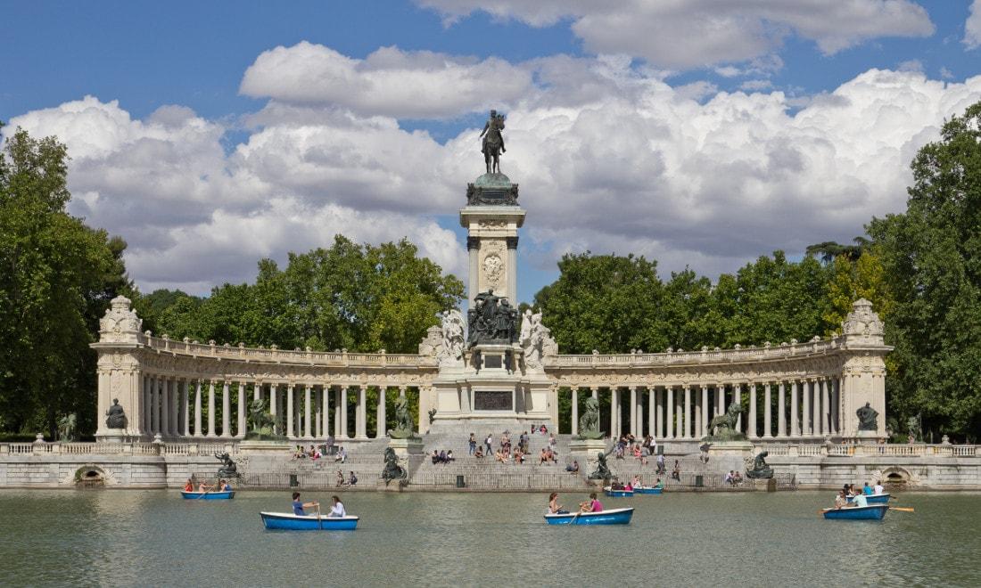 El Retiro park Madrid