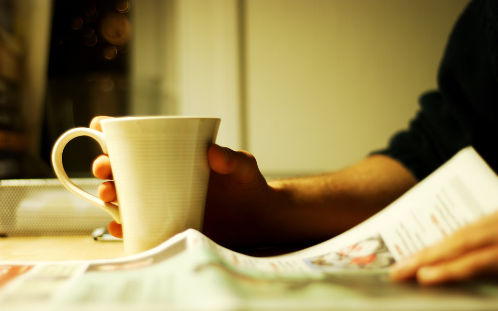 Coffee and news image