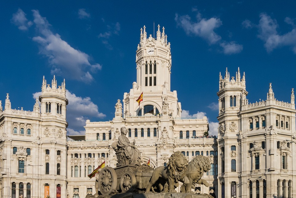 Plaza Cibeles and City Hall, Madrid