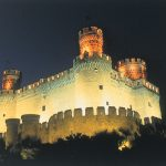 Manzanares Castle at Night