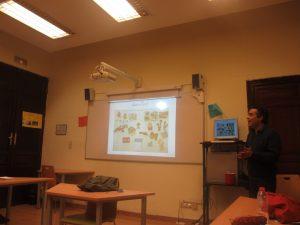 Spanish classes: digital whiteboard