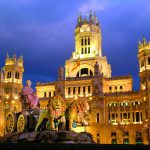 Plaza Cibeles in der Nacht, Madrid