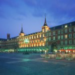 Plaza Mayor Madrid bei Nacht