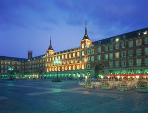 Plaza Mayor Madrid at Night