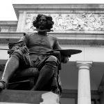 Museo del Prado, Madrid, Statue Velazquez