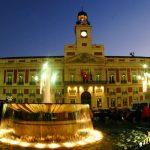 Puerta del Sol Madrid, la nuit