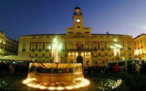 Puerta del Sol Madrid at Night