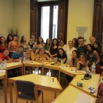 Spanish students group in class, TANDEM Madrid