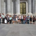 Spanish group in front of the Spanish Congress, TANDEM Madrid