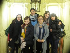 Spanish group with Cristina and Mabel